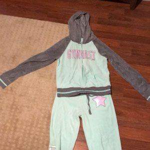 Girls Justice gymnast sweat suit size 12